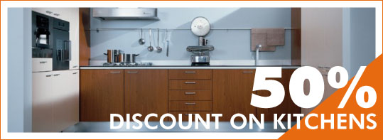 50% of on kitchens